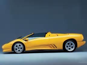 cars the amazing yellow lamborghini diablo roadster