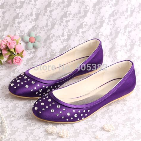 womens purple flat shoes 13 colors rhinestone fashion ballet flats