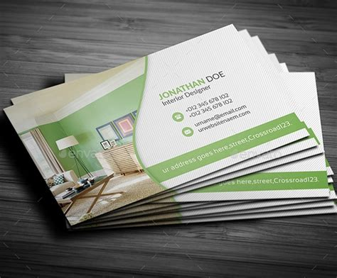 awesome interior design business card templates