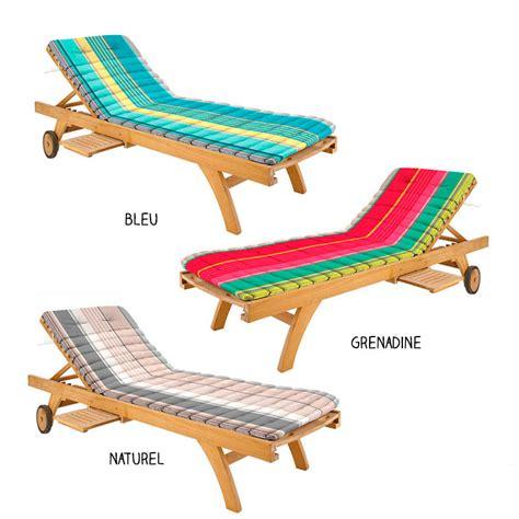 matelas pour bain de soleil transat oreiller intgr 100