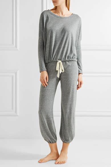 designer shop eberjey at net a porter net eberjey jersey pajama top net a porter