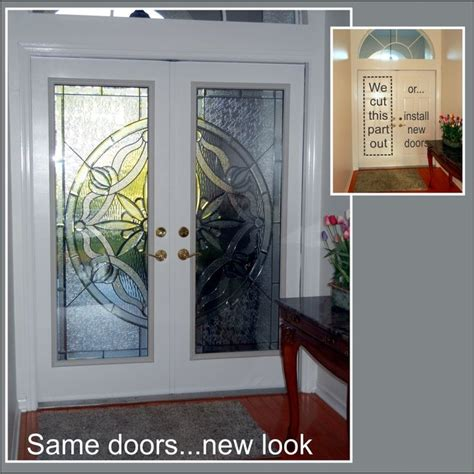Cut The Doors To Add Glass Traditional Entry Ta Cut Glass Doors