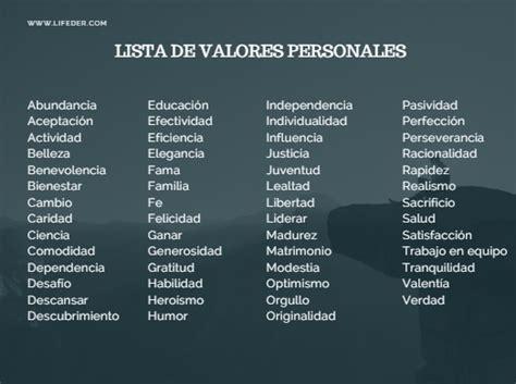 valores minimos no imponible y cargas de familia 2016 lista de los 100 valores humanos m 225 s importantes