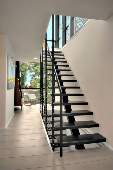 staircase design inside home the modern steel staircase inside and outside in the