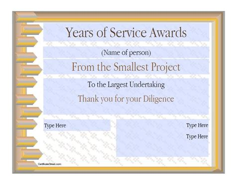 years of service award template 28 years of service award certificate templates