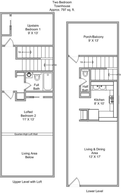 two bedroom townhouse floor plan townhouse floor plans joy studio design gallery best