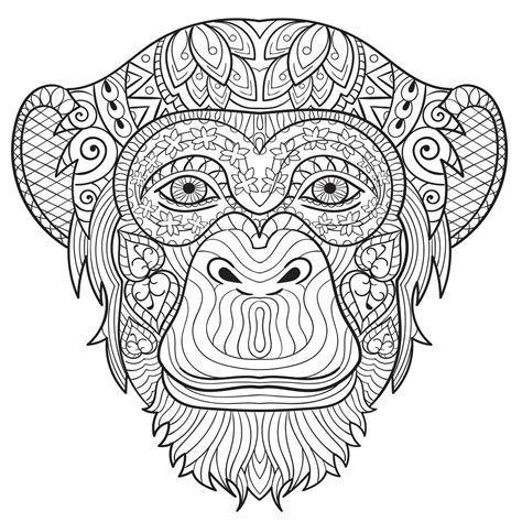 adult coloring sheets free coloring sheet adult coloring pages animals monkey download adult