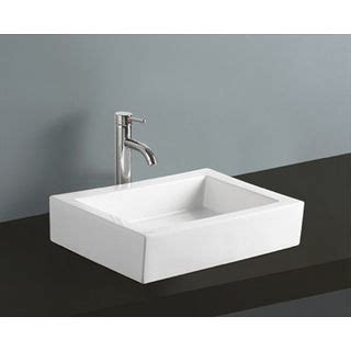 18 inch bathroom sink white vitreous china 18 inch vessel bathroom sink