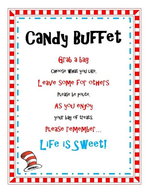 Baby Shower Buffet Sign by Buffet Sayings For Baby Shower Dr Seuss Birthday