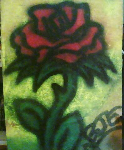 spray painted roses spraypaint by evans1230 on deviantart
