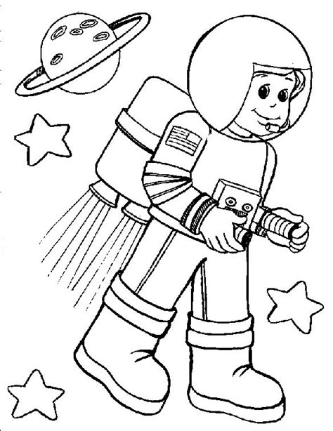 space coloring pages for kindergarten astronaut coloring pages for preschool astronauts