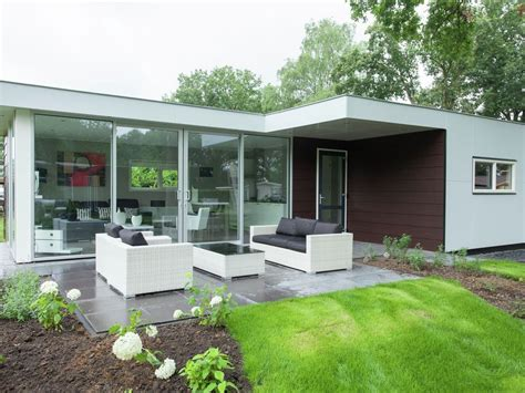 contemporary bungalows hommelheide detached modern bungalow in a park with many