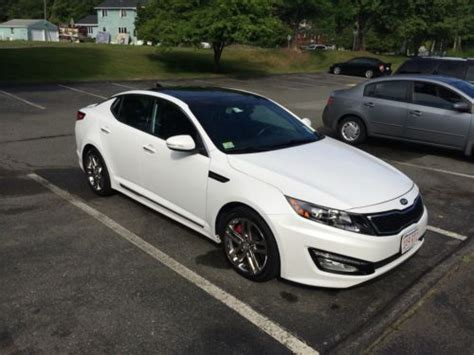 2013 Kia Optima Kbb Buy Used 2013 Kia Optima Sxl 4 Door 2 0l Turbo White
