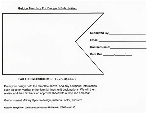 boat flag staff insignia template for guidon submission