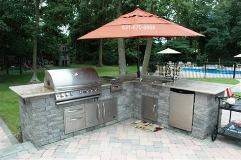 Backyard Bbq Kits Bbq Outdoor Kitchen Kits Inspirations Also Manificent