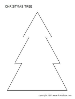 christmas tree shape clipart 14