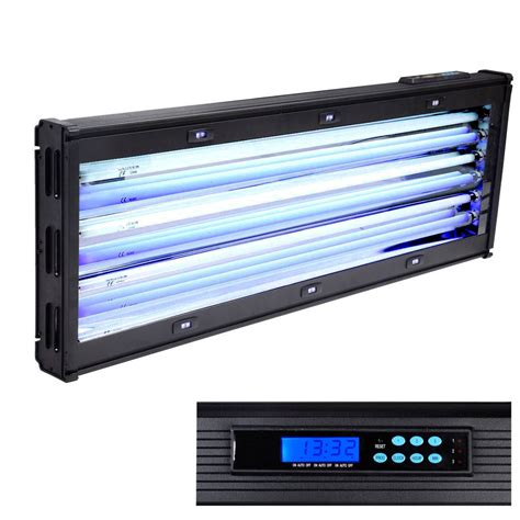 T5 Lighting Fixtures For Aquariums Lcd Timer 36 Quot 234w 6x39w Fluorescent Actinic T5 Ho Aquarium Light Fixture Marine Ebay