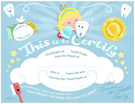 free tooth fairy certificate template best sles templates