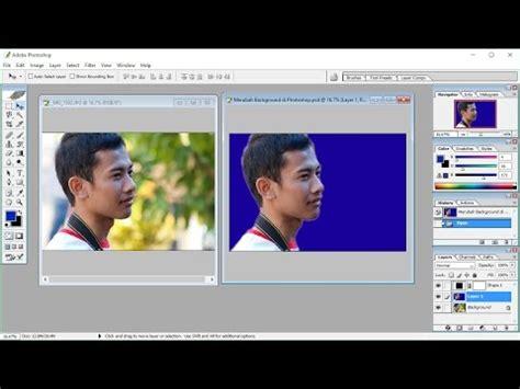 cara merubah cara merubah background foto menggunakan photoshop youtube