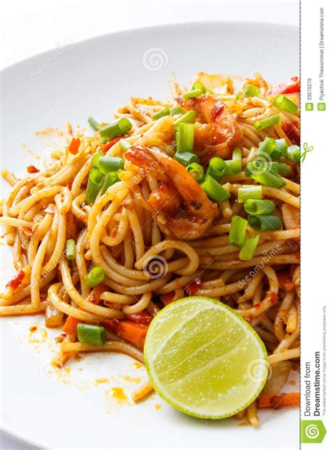 cuisine spaghetti spaghetti tom yum kung royalty free stock images image