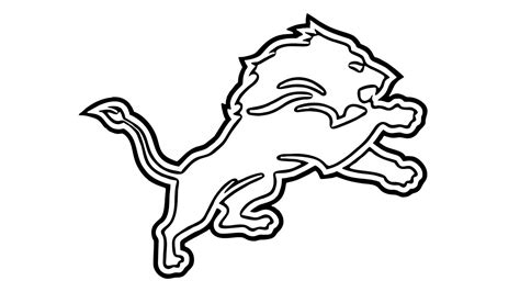 coloring pages detroit lions how to draw the detroit lions logo nfl youtube