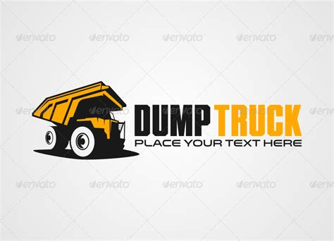 Dump Truck Logo Templates By by Dump Truck Logo Templates By T Famz Graphicriver
