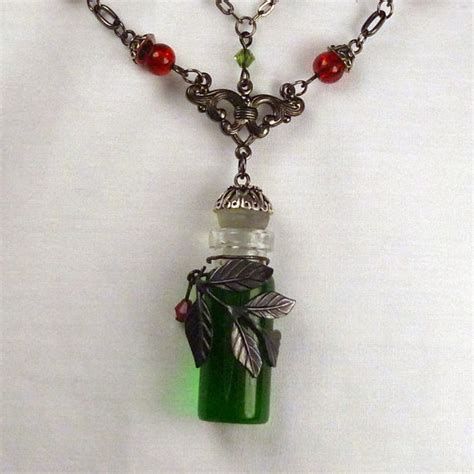 about jewelry absinthe green necklace with cherry