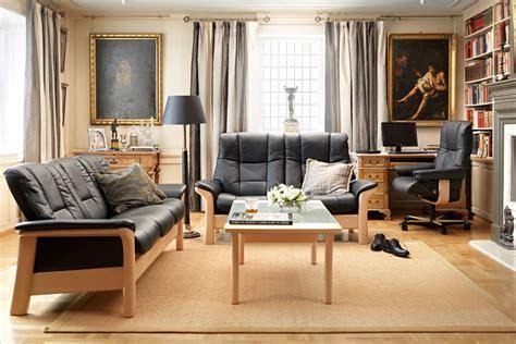 sofa dauerschläfer leather sofas stressless buckingham lowback modern