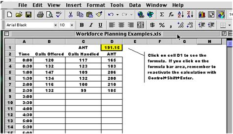 workforce plan template exle article using spreadsheets in workforce planning
