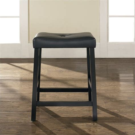 Black Saddle Seat Counter Stool by Crosley Furniture 24 Quot Counter Upholstered Saddle Seat