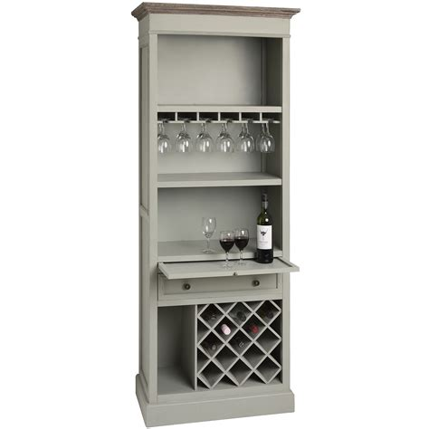 Wine Storage Cabinets by Vintage Shabby Chic Pigeon Grey Wooden Drinks Wine