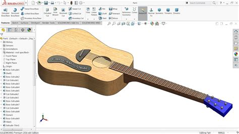 solidworks tutorial how to make guitar solidworks tutorial how to make acoustic guitar youtube