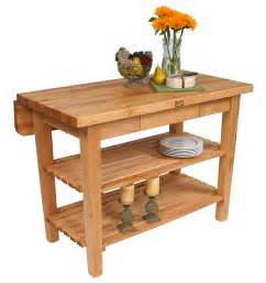beautiful adjustable kitchen island with butcher block