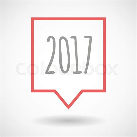 Best Number Lookup 2017 Illustration Of An Isolated Line Tooltip Icon With A 2017 Year Number Icon Stock