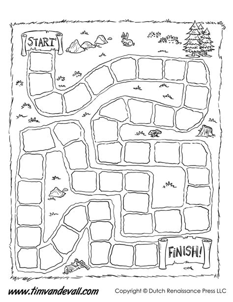 game board template tim s printables