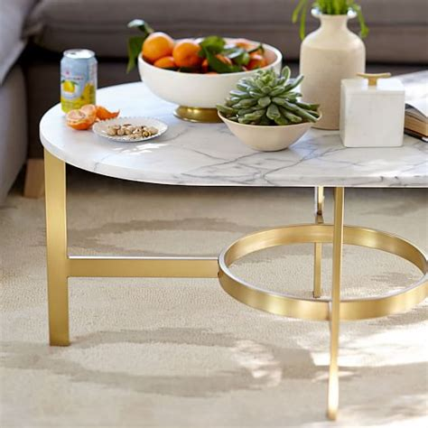 oval marble coffee marble oval coffee table west elm