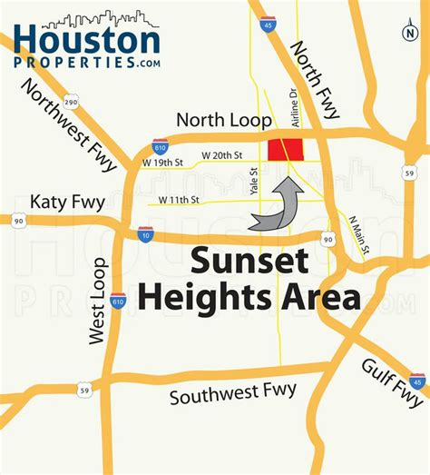 houston real estate map sensational sunset heights houston map great maps of