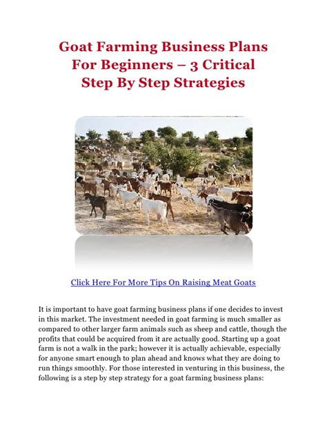 dairy farm business plan template goat farming business