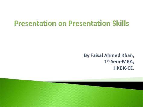 Mba Presentation Tips by Presentation Skills