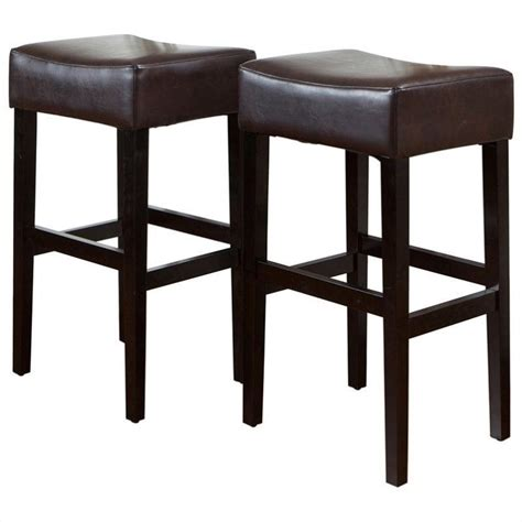 30 backless bar stools trent home 30 quot rodriguez backless bar stools in brown set