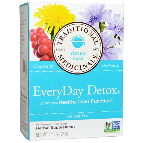 Detox Tea Bags by Traditional Medicinals Detox Teas Everyday Detox Herbal