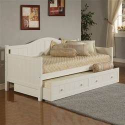 White Wood Daybed With Trundle Error