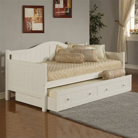 white day beds hillsdale staci wood daybed in white finish with trundle