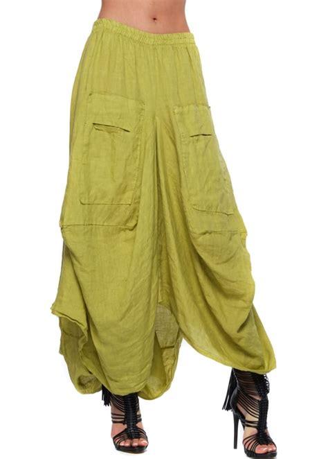 lime green linen layered maxi skirt designer linen skirt