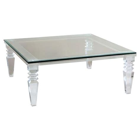 square acrylic coffee table luxor modern classic square cut acrylic coffee