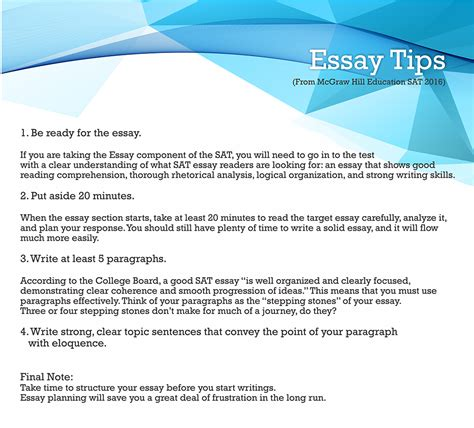 Tips For Sat Essay by How To Write An Essay For College Test