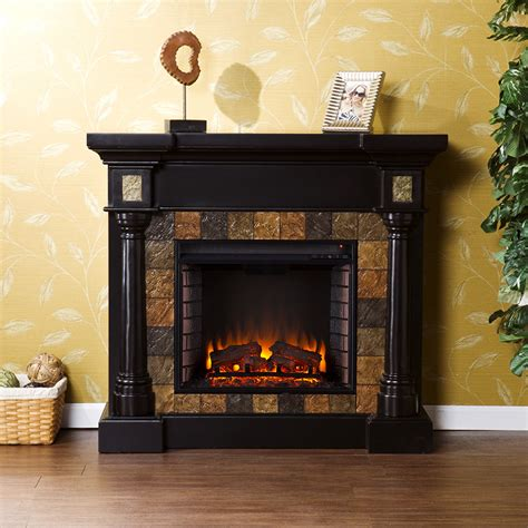 wall mantle carrington wall or corner electric fireplace mantel