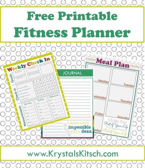 weight management meals free fitness journal meal planning printables simple