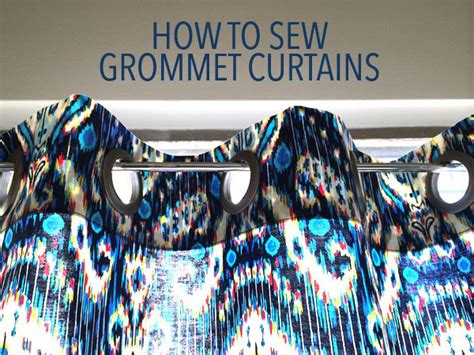 make your own grommet curtains home decor diy how to sew grommet curtains grommet
