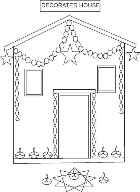 decorated house coloring pages decorated house coloring page